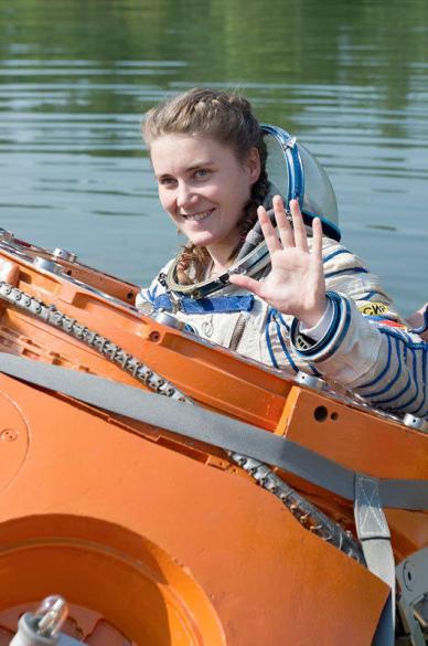 Anna Kikina lors d'un test de survie (source Yahoo)