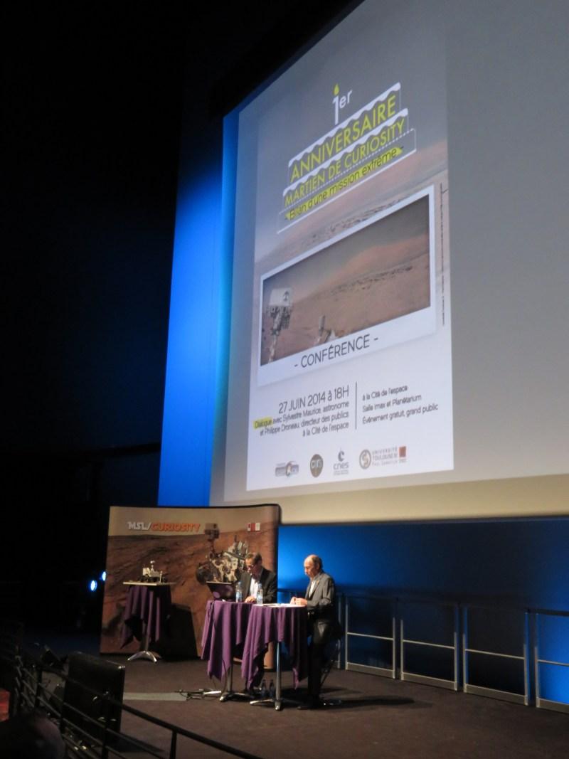 Conférence de Sylvestre Maurice sur 1 an martien de Curiosity