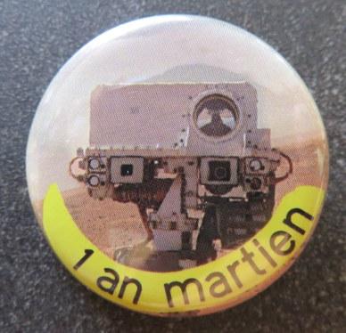 Bagde de la Cité de l'espace à Toiulouse pour 1 an martien de Curiosity