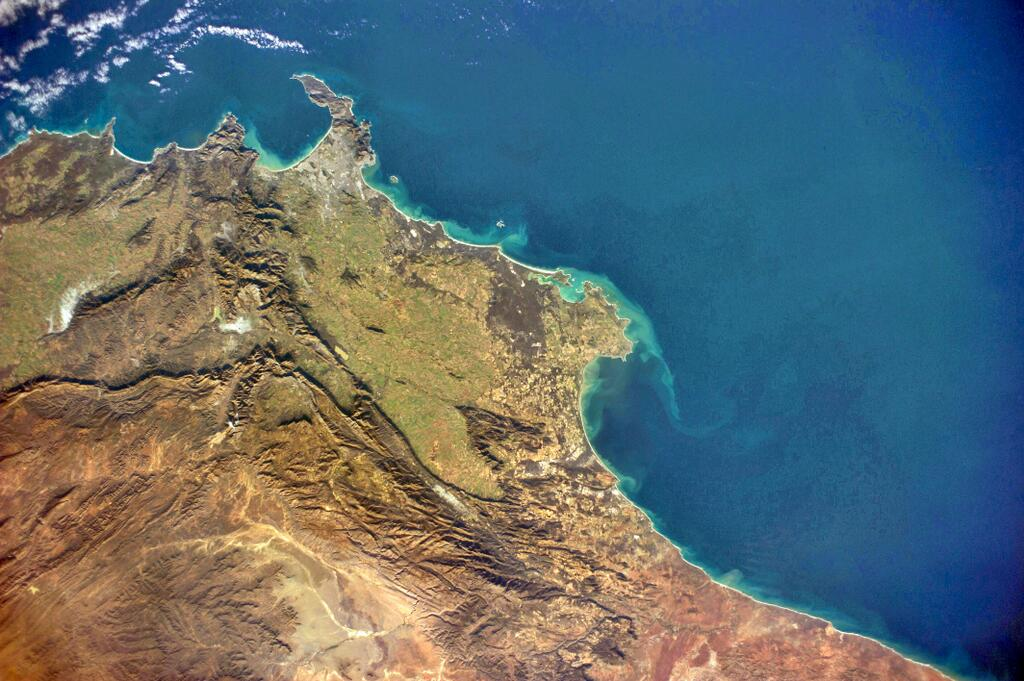 Cape Town, South Africa, depuis l'ISS, exp40, 21 Juin (crédit NASA)