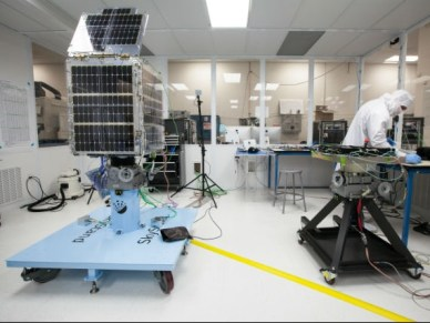 Satellite Skysat en intégration. © Skybox Imaging
