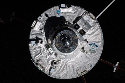Arrivée de l'ATV 5 à l'ISS le 12/08/14 (photo Oleg Artemyev)