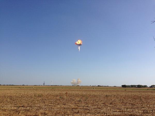 Explosion de la Falcon9-R de Space X le 22 aout 2014 (source @EthansMommy17)