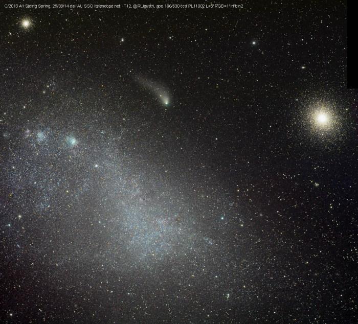 Comet C/2013 A1 Siding Spring  (©Rolando Ligustri 29/08/2014 depuis SSO Australia)