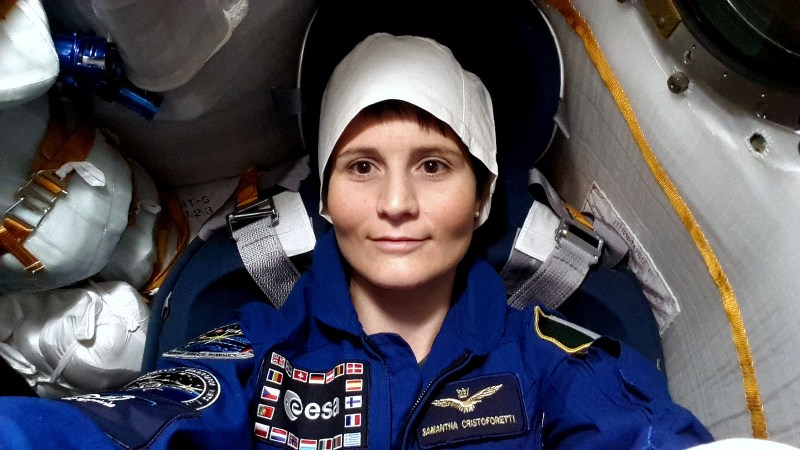 """""""In my seat in the our Soyuz - next time for real!"""""""