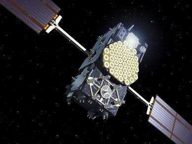vue d'artiste d'un satellite IOV (crédit ESA)
