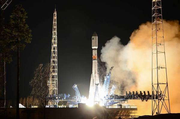 Lancement du Glonass-K1 par une Soyouz depuis Plesetsk le 30/11/14 (source Roscosmos)