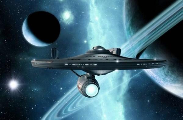 l'USS Enterprise, numéro de série NCC-1701, de la Fédération des Planètes Unies, dans Star Trek 1966