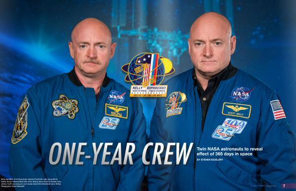 Les astronautes jumeaux de la NASA Mark Kelly (à gauche) et Scott Kelly (à droite). Crédits : NASA