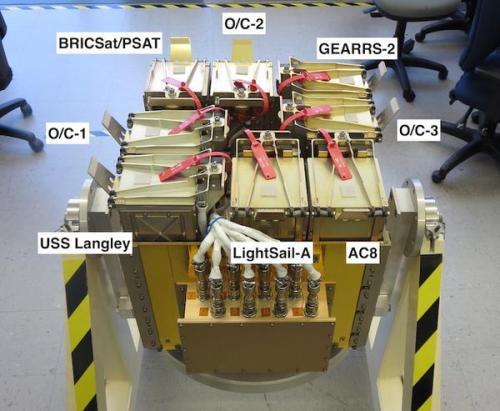 Les cubesats lancés à bord de AFSPC5 le 20 mai 2015 (source NRO)