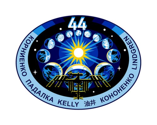 Logo de l'Expedition 44 de la Station Spatiale Internationale (source NASA)