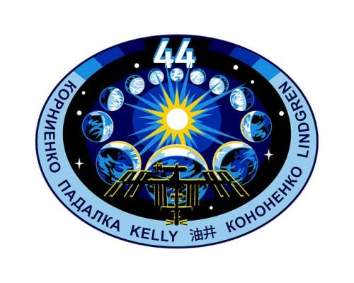 Logo de l'Expedition 44 de la Station Spatiale Internationale (source NASA)