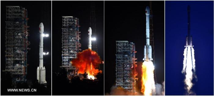 Lancement Long March 3B / Beidou le 25 juillet  (Credit Xinhua / Zhu Zheng)