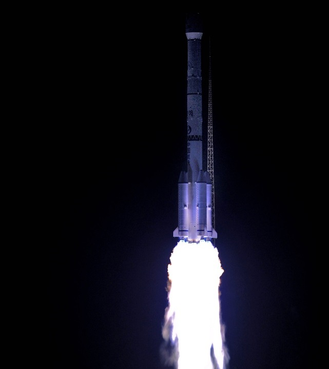 Lancement du 12 septembre 2015 d'une Long March 3B, avec un satellite officieusement appelé TXJSSY-1 (photo Xinhua)