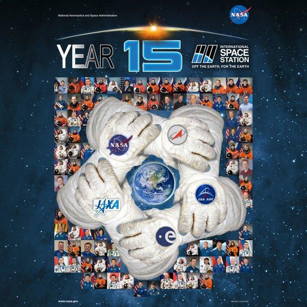 """"""" 15 ans Station Spatiale Internationale, hors de la Terre, pour la Terre"""""""