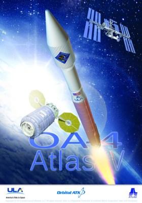 Poster du lancement Atlas V / OA-4 d'ULA
