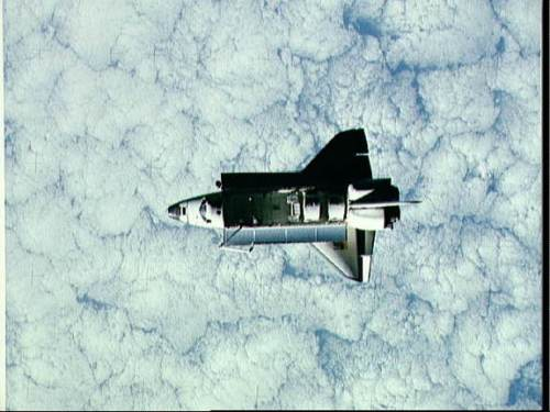 Photo depusi un satellite de la navette Challenger en orbite en juin 1983, mission STS-7 (source NASA)