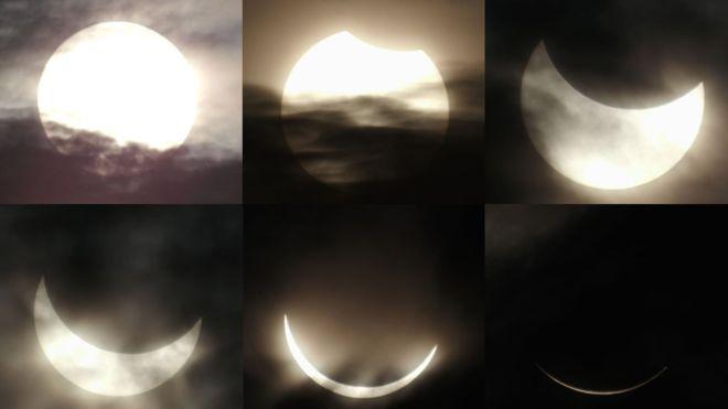 L'éclipse totale du Soleil du 9 mars 2016 depuis Belitung en Indonésie (source BBC)