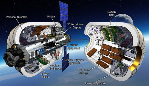 Le module d'habitat gonflable BA 330 de Bigelow Aerospace (credit Bigelow)