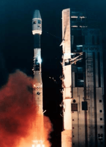 Lancement Ariane V44 avec le satellite ERS-1 à bord le 17/07/1991 (source Airbus Defence and Space)