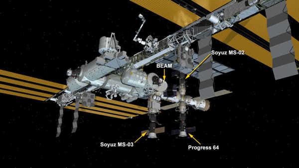 La configuration de l'ISS après le départ du cargo Cygnus 0A-5 le 21/11/2016 (credit NASA)