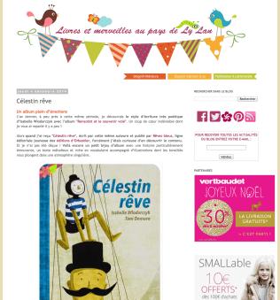 Décembre 2014 Célestin rêve http://www.livres-et-merveilles.fr/2014/12/album-enfants-celestin-reve-isabelle-wlodarczyk-toni-demuro-reves-bleus.html