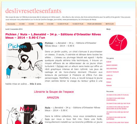 Novembre 2014 Cartoons http://deslivresetlesenfants.blogspot.fr/2014/11/pichien-nuts-lbenabid-34-p-editions.html