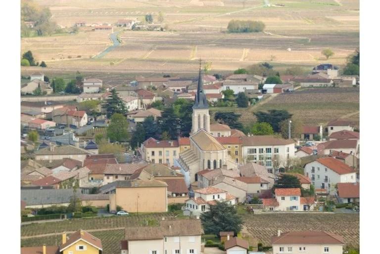 Le village du cru Fleurie en Beaujolais
