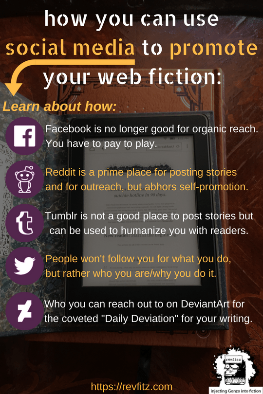 How to use social media to promote web fiction!