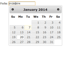 Formulario con DatePicker