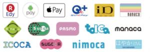 レヴィーでは、交通系ICカード、JCBの「QUICPay+」、  NTTドコモの「iD」    Apple Pay、Google pay、  Line pay,ALI pay決済できます。