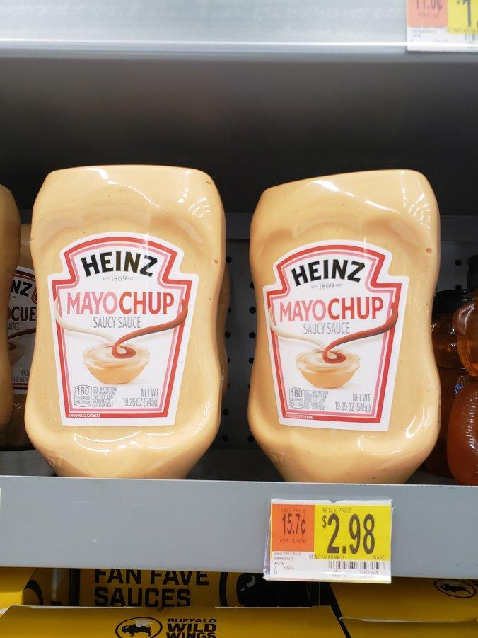 Mayochup on Walmart shelf for $2.98