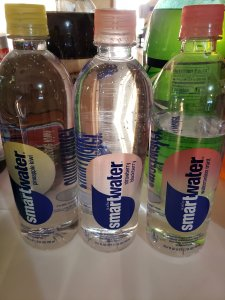 3 bottles of flavored smartwater options for a better tasting water