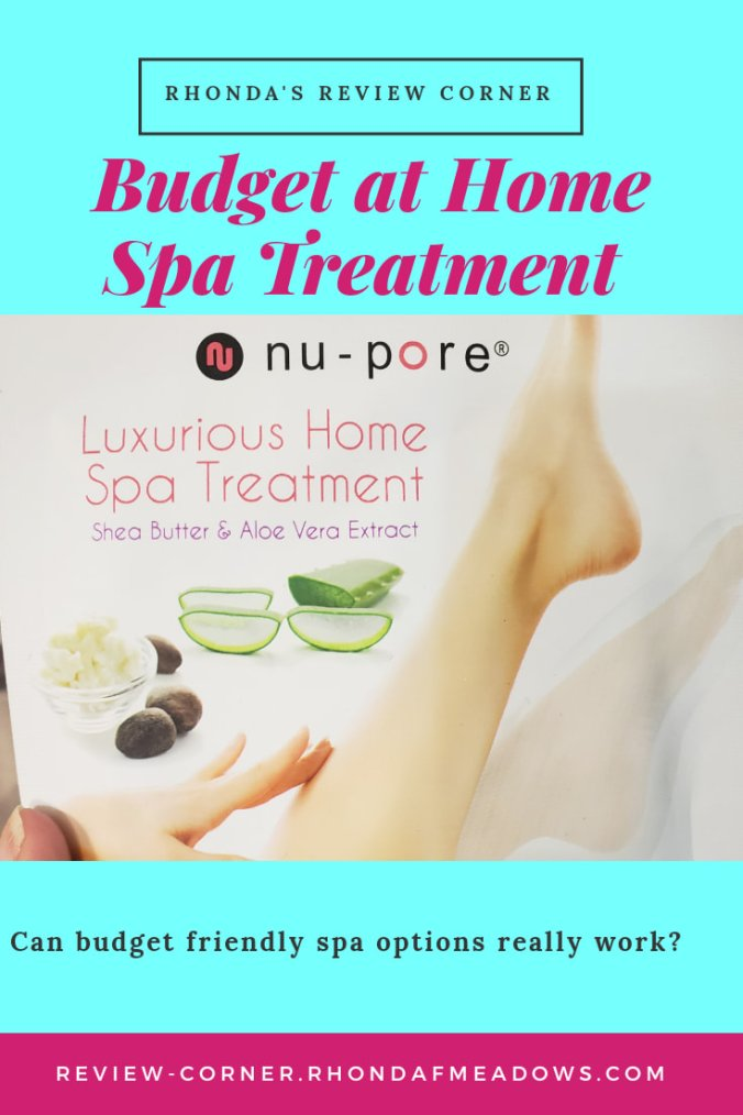 Budget Friendly at Home Spa Treatment moisturizing socks package