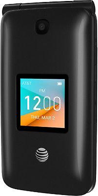Alcatel 4044o Go Flip 2 AT&T Unlocked 4G GSM LTE WiFi Flip Phone Gray OB