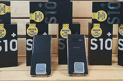 "SAMSUNG GALAXY S10+ Plus BLACK 128GB SM-G975F/DS Dual (FACT UNLOCK) 6.4"" 8GB RAM"