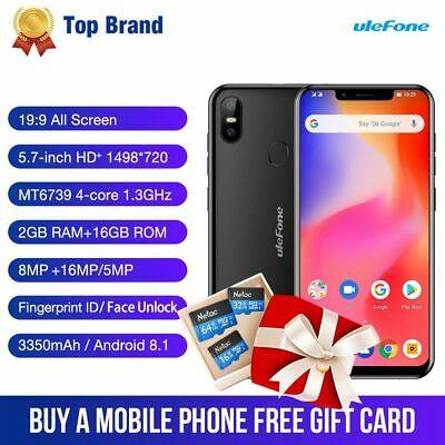 Ulefone S10 Pro Smartphones 4G 2+16GB With 64/32/16GB Micro TF Memory Card R5C2