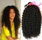 US STOCK Brazilian Kinky Curly Hair Bundles Human Hair Extensions 3 Bundles 300g