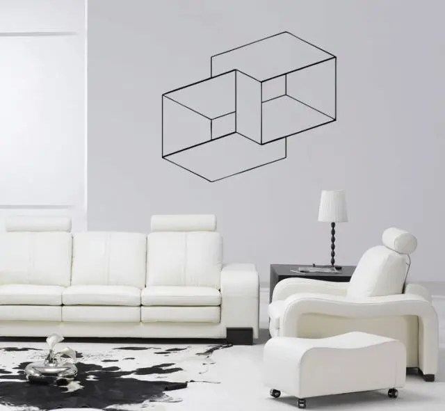 Image result for Geometric wall optical illusion