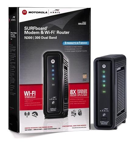 ARRIS Motorola SURFboard SBG6580 DOCSIS 3.0 cable Modem Wireless Router