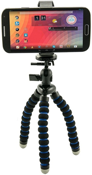 Universal Smartphone Holder and Flexible Mini Tripod for iPhone 6 Plus iPhone 6 5C 5S