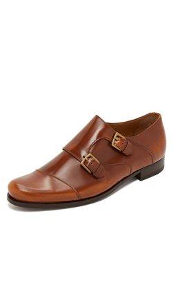 Billy Reid Men's Double Monk Strap Shoes