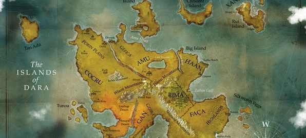 The Islands of Dara Map