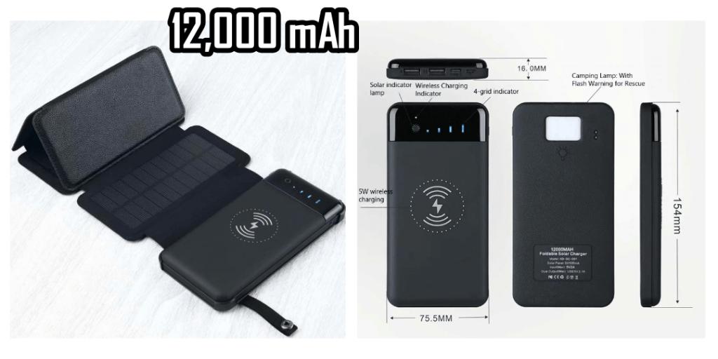 12. Shenzhen Foldable Solar Power Bank 12000mAh Wireless Charger Waterproof 2-Best Sellers Aliexpress