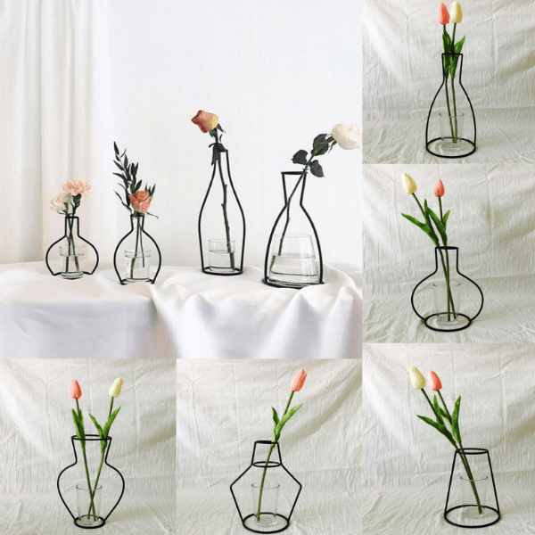 85. New Style Home Decoration Retro Iron Line Flowers Vase-Best to buy things on aliexpress best sellers