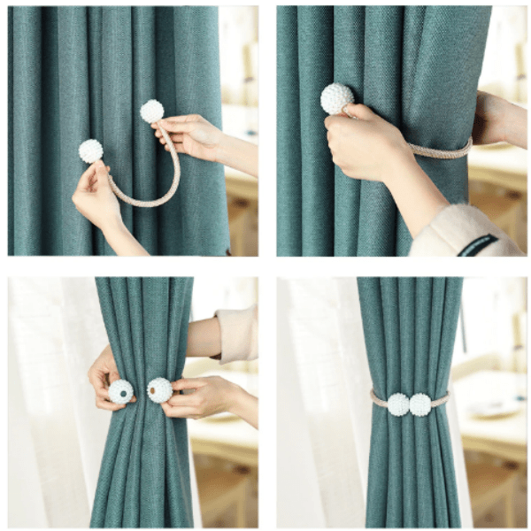 90. Pearl Magnetic Curtain Clip Curtain Holders-Best to buy things on aliexpress best sellers