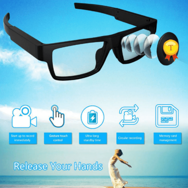 92. Classic Fashion Design Smart Glasses with HD Video Recording-Best to buy things on aliexpress best sellers