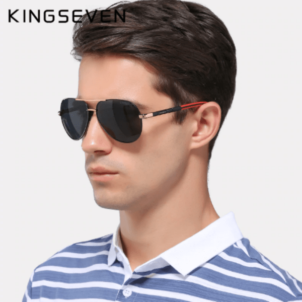 96. KINGSEVEN Men Vintage Aluminum Polarized Sunglasses-Best to buy things on aliexpress best sellers