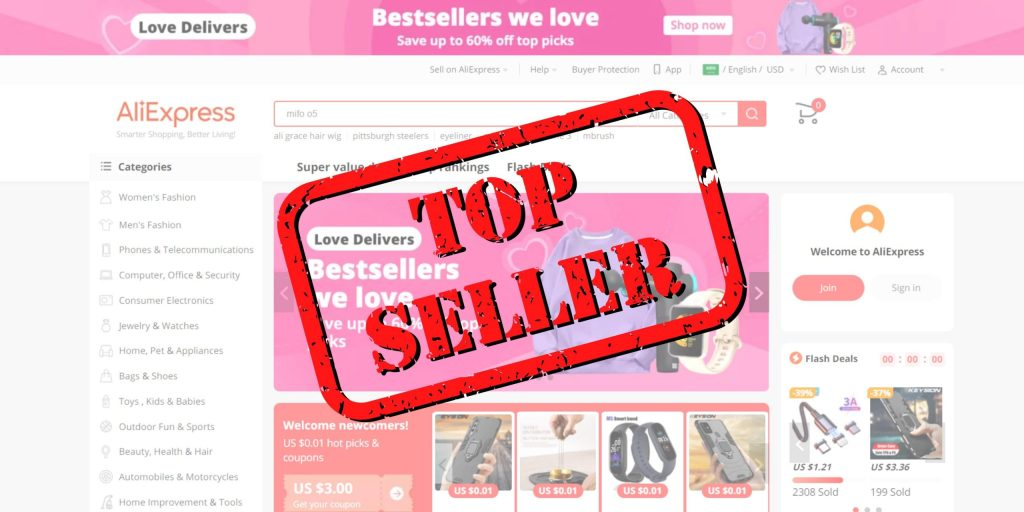 Best Sellers and Products on AliExpress