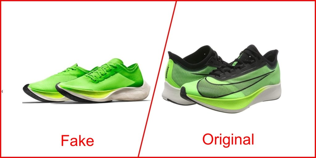 1. Nike Zoom Fly 3 - Fake Nike Shoes Vs Original